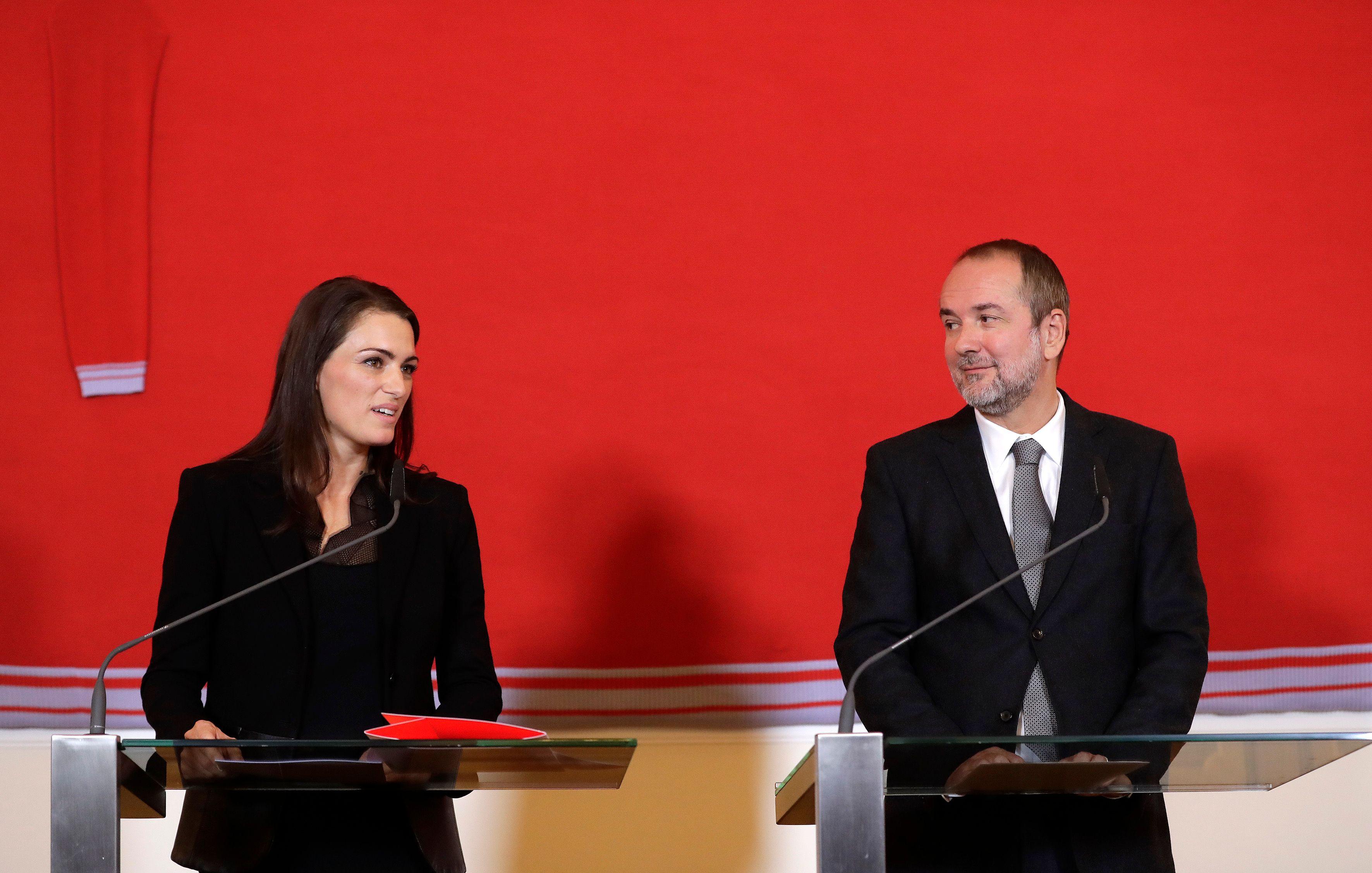 Pressekonferenz Österreich Pavillon, Kommissärin Verena Konrad und Kulturminister Thomas Drozda Foto: Regina Aigner