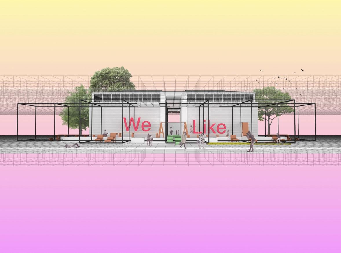 PLATFORM AUSTRIA, Biennale Architettura 2020, Frontansicht Pavillon, © mostlikely sudden workshop