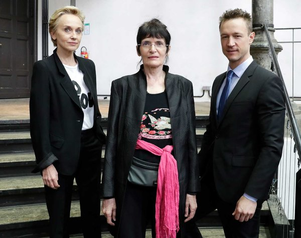 Press conference 8 May 2018, Press conference 8 May 2018, Felicitas Thun-Hohenstein, Renate Bertlmann, Gernot Blümel Photo: Renate Aigner