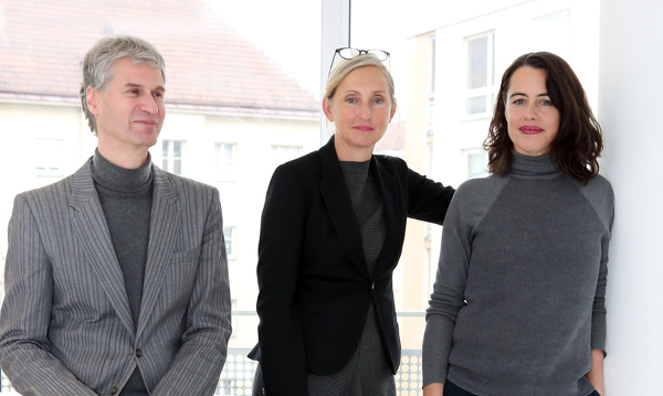 Kuratorenteam Christian Muhr, Elke Delugan-Meissl, Sabine Dreher Foto: Christian Redtenbacher